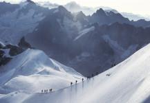 Descending Mt Blanc